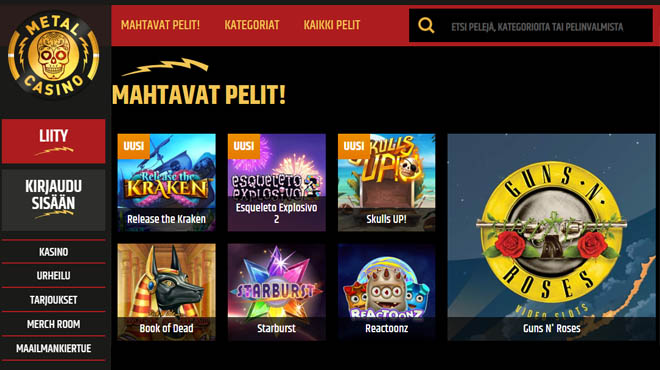 Rock henkinen metal casino