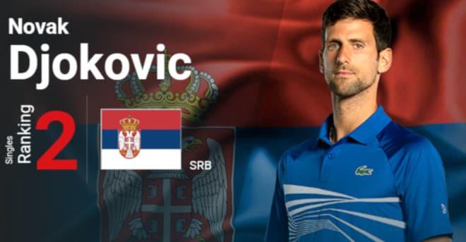Djokovic on australian openissa rankingissä 2