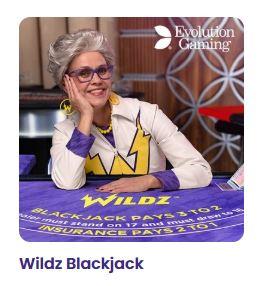 Wildz.com tarjoaa myös oman Live blackjack pelin