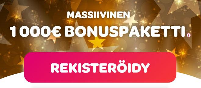 Spin Casino antaa sinulle 1 000 € arvoisen bonuspaketin