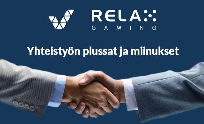 Veikkaus ja Relax Gaming yhteyistyön plussat ja miinukset