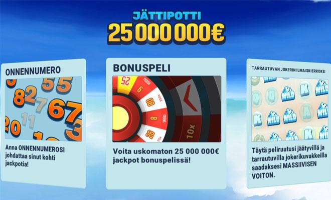 Tässä on My Lucky Number pelin valikko joka kertoo siitä, että miten peli toimii