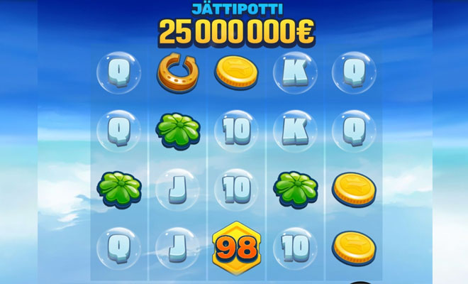 Tässä pelissä on viisi rullaa sekä 4 eri tasoa voittaa