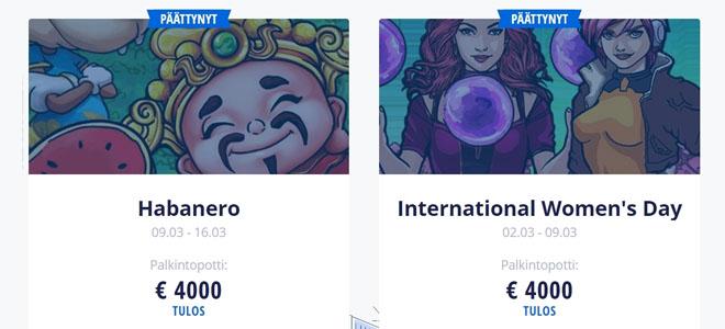 Myös aikaisemmissa turnauksissa potti oli 4 000 €