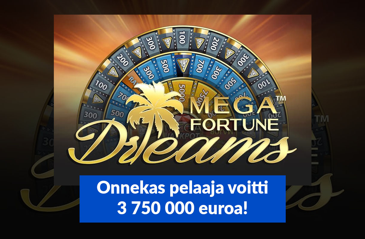 Onnekas pelaaja nappasi itselleen 3,75 miljoonaa euroa