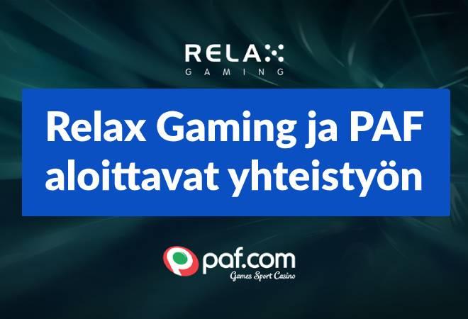 Relax Gaming ja paf aloittavat yhteistyön