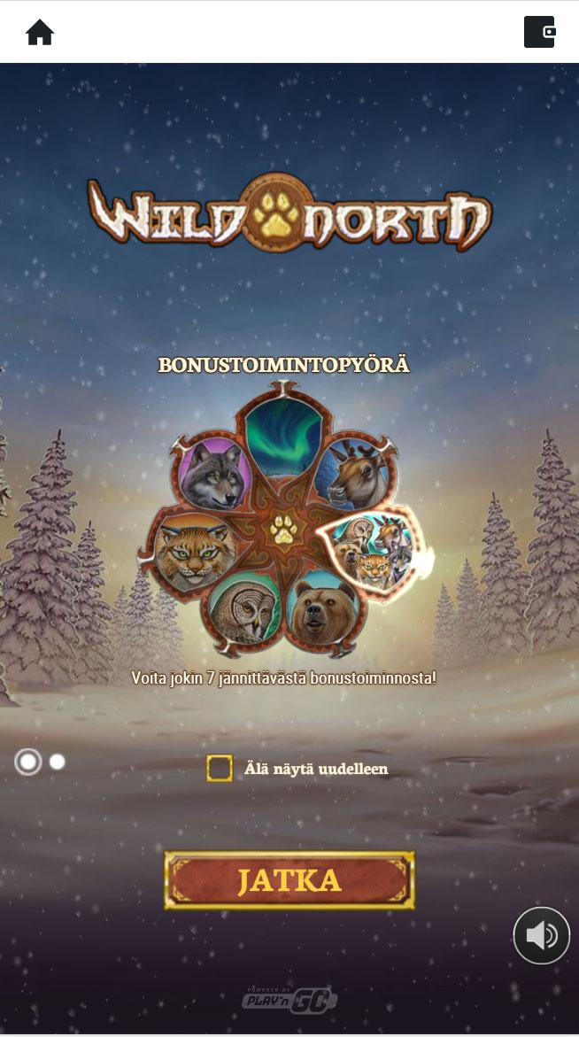 Sivustolla saatavat ensimmäisen talletuksen ilmaiskierrokset aktivoituvat pelissä wild north