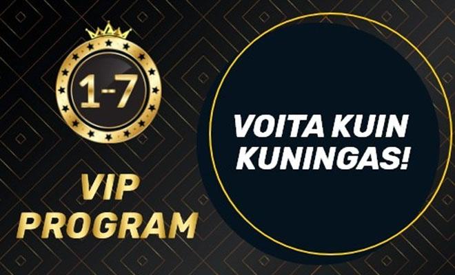 VIP ohjelman tasoilta voit lunastaa uusia palkintoja