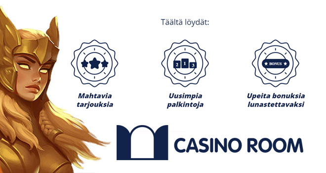 Kolme kovaa syytä valita Casinoroom pelaamiseen
