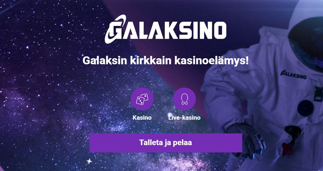 Galaksino kasinolta saat uuden tarjouksen joka päivä.
