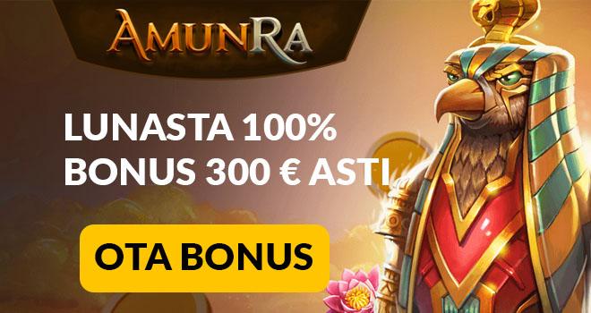 Aktivoi Amun Ra bonus painamallatästä