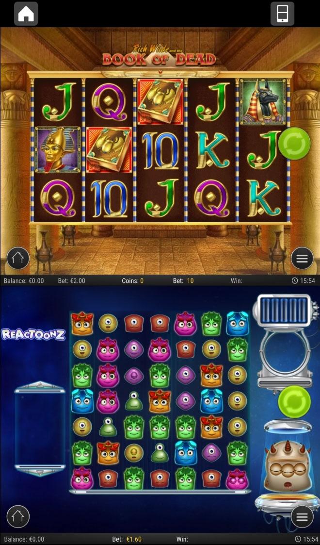 Pelit toimivat myös pystyyn suunnatulla puhelimella jota ei ole käännetty vaakatasoon