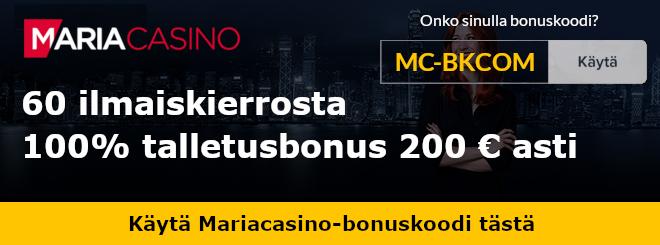 Maria Casino bonuskoodi