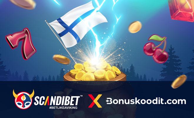 Scandibet tarjoaa yhteistyössä bonuskoodit.com kanssa 100% bonuksen 600 € asti
