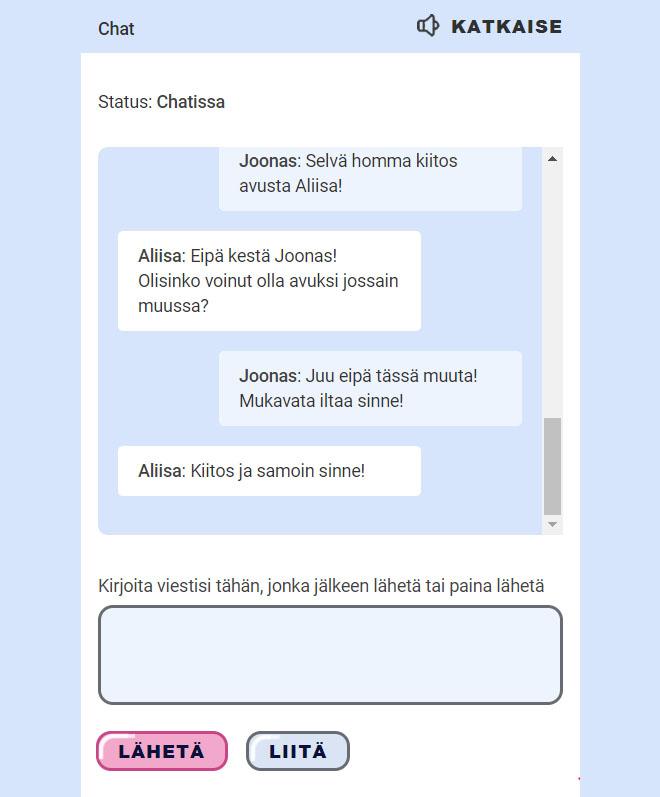 Otto Kasino live chat auttaa sinua mahdollisten ongelmien kanssa vuorokauden ympäri
