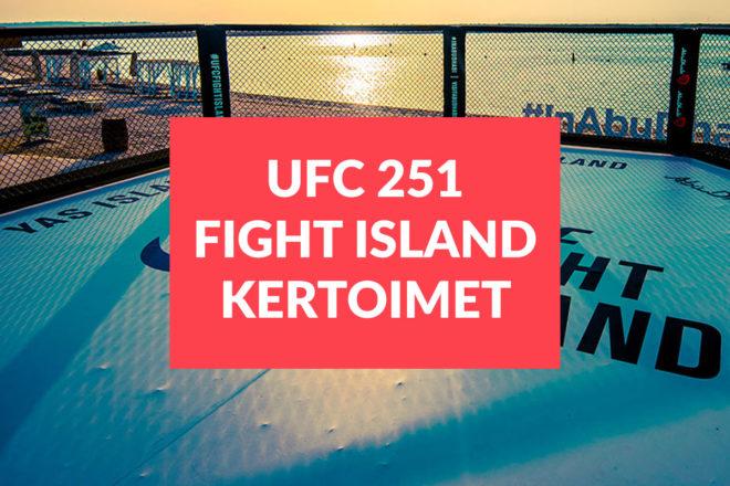 UFC fight island 251 tapahtuman parhaat kertoimet ja otteluohjelma