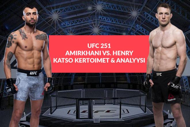 Amirkhani ja Henry kohtaavat UFC Fight Island 251 tapahtumassa