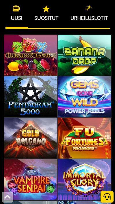 b-Bets kasino toimii hyvin myös mobiilissa