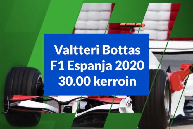 Valtteri Bottas F1 Espanja 30 kerroin