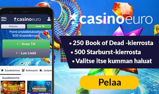Casino euro antaa sinun valita mihin peliin haluat ilmaiskierrokset