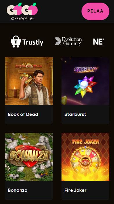 Go Go Casino toimii mobiilissa