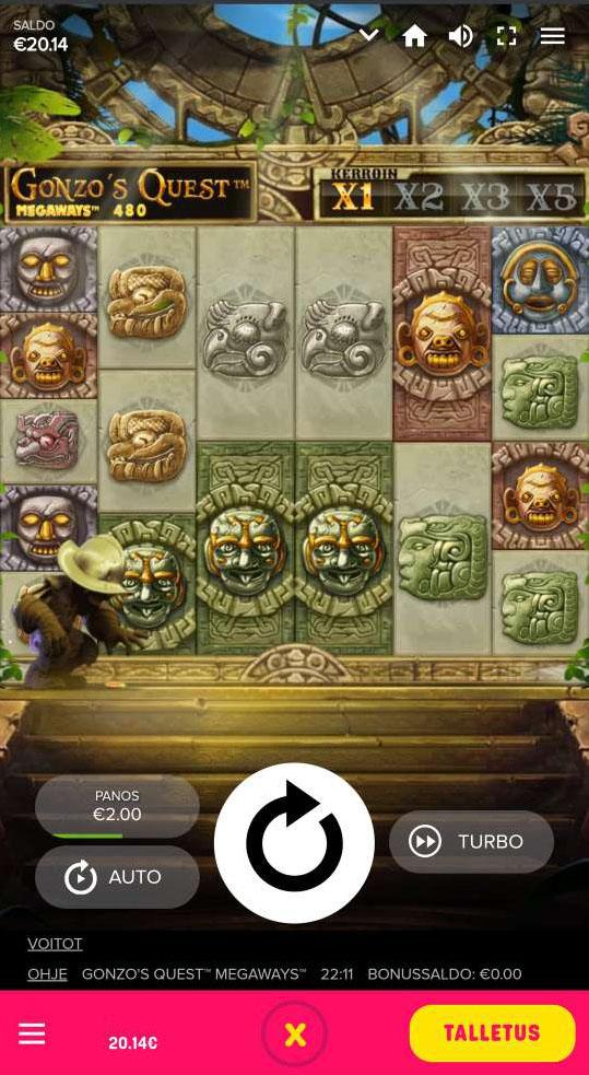 Gonzos Quest megaways mobiilissa