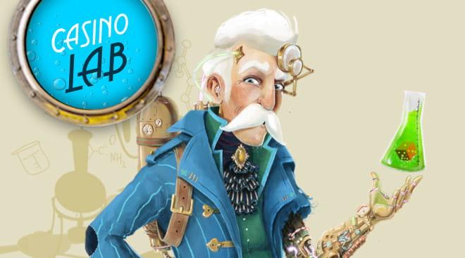 Casino Lab on uusi nettikasino jossa on tyylikäs Laboratio-teema
