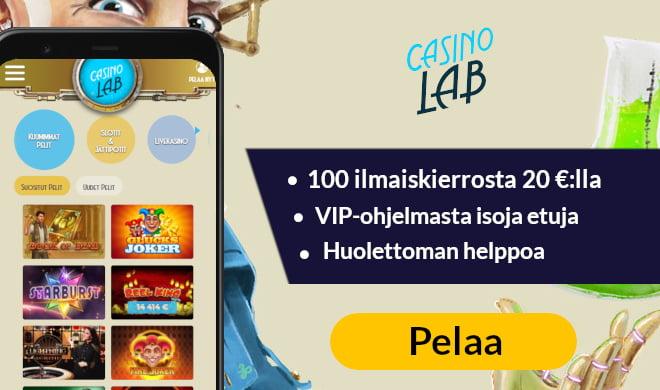 Casino Lab on uusi kasino ilman tiliä