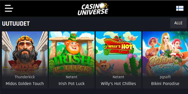 Esittelyssä juuri julkaistu Casino Universe