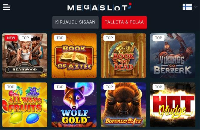 MegaSlot casinon aulasta löyty paljon uniikkeja pelejä