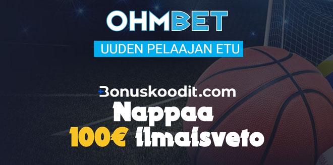 100 € ilmaisveto Ohmbet sivustolle