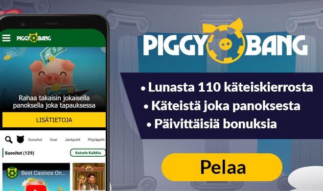 Piggy Bang Casino bonus antaa sinulle 55 käteiskierrosta heti