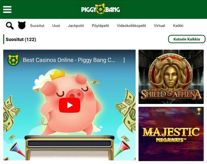 Piggy Bang Casinon aula on erittäin selkeä