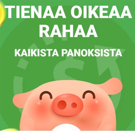 Piggy Bang käteispalautus