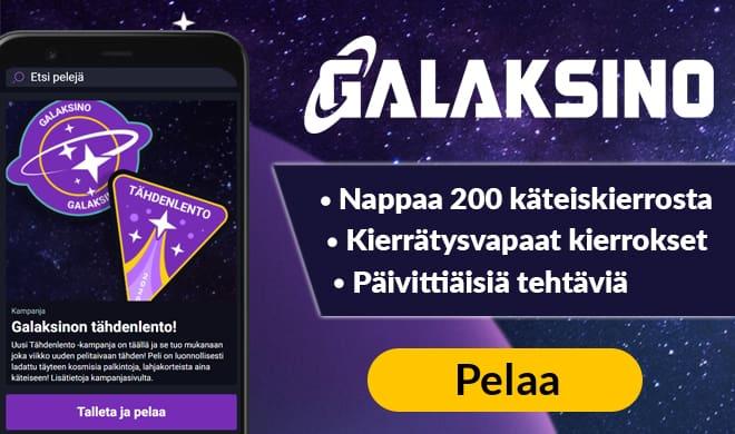 Pelaa nyt Galaksino kasinolla