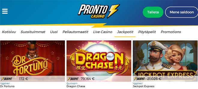 Esittelyssä Pronto Casino