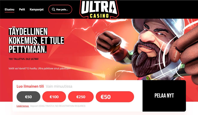 Esittelyssä juuri julkaistu Ultra Casinon aula