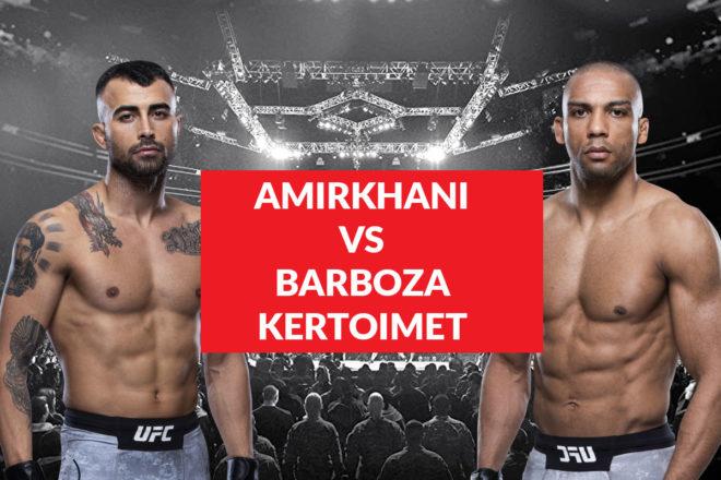 Katso Amirkhani vs. Barboza kertoimet sekä ennakko artikkelistamme