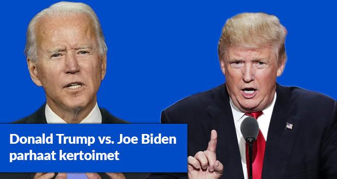 Todennäköisesti joko Trump tai Biden valitaan presidentiksi