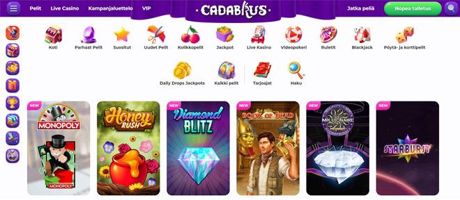 Esittelyssä lokakuussa 2020 julkaistu Cadabrus kasino