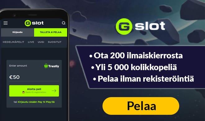 Gslot kasinolla pääset pelaamaan esimerkiksi Novomatic pelejä sekä 5 000 muuta peliä