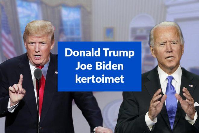 Donald Trump vs. Joe Biden kertoimet
