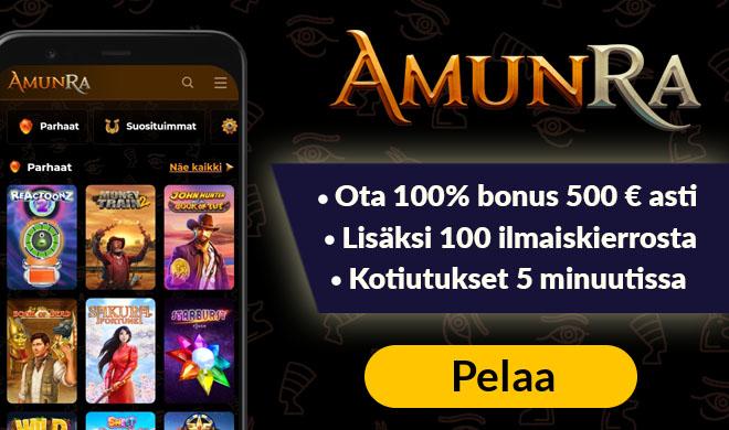 Kokeile Amunra Casinoa 100% bonuksella 300 € asti