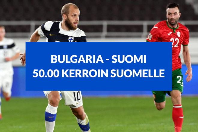 Bulgaria Suomi kertoimet jalkapallo kansojen liiga