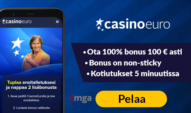 Casinoeuro casino on yksi Suomen suosituimmista pelisivuista.