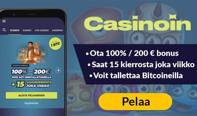 Casinoin kokemuksia pääsee keräämään jopa 1 000 euron bonuksella