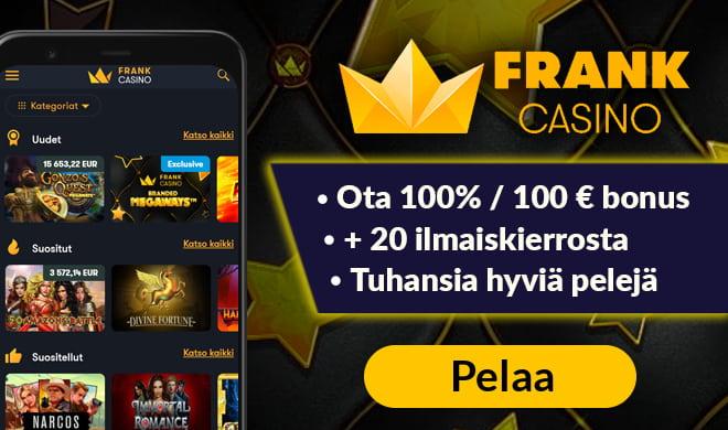 Frankcasino.com tarjoaa hyvät edut pelaajille