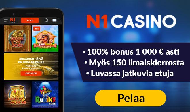 N1 Casinon uuden asiakkaan edut