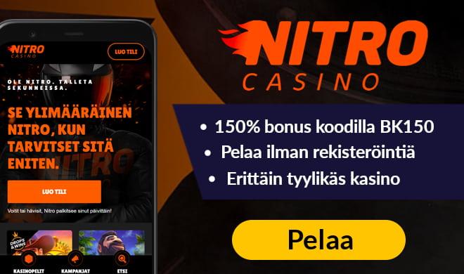 Nitro Casino tarjoaa päivittäisiä etuja