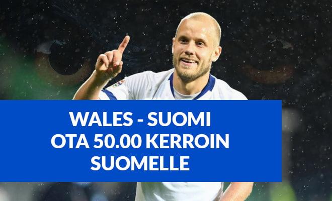 Wales - Suomi ottelu 18.11 UEFA Kansojen Liiga. Katso kertoimet ja vedonlyönti.